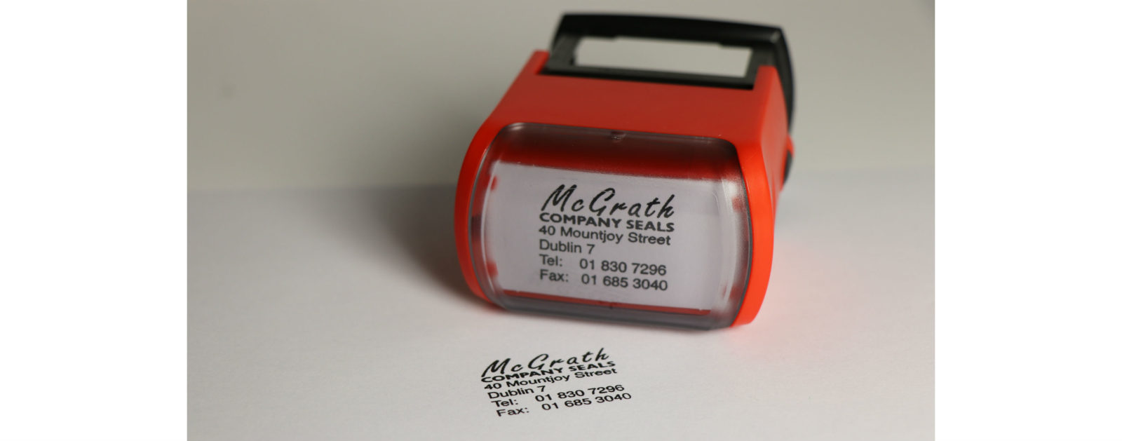 Rubber stamp for company tasks