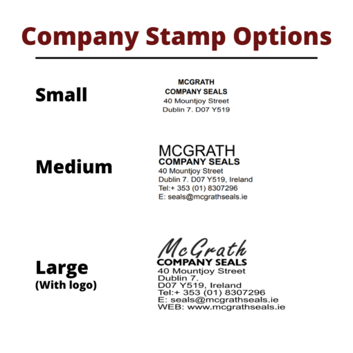 Rubber Company Stamp